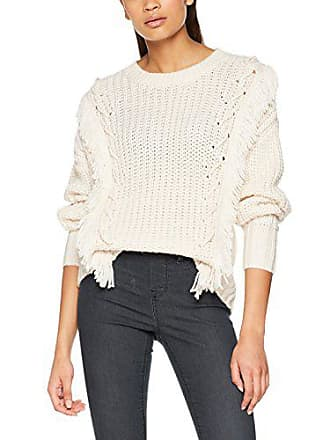 New 13 Look Mujer Fringe 38 Whipstitch cream Jersey Marfil Para 88FqfxHrw