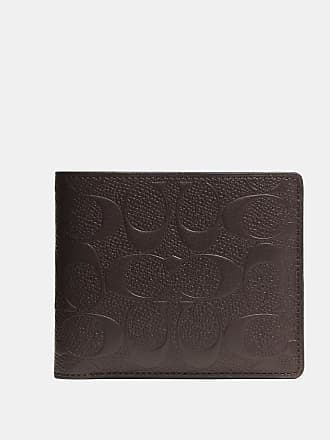 Leather Crossgrain Wallet Coach In Id Signature Compact q4AOPzY