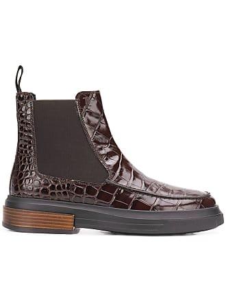 Marron Boots Tod's Croc Ankle effect 1qwqITX