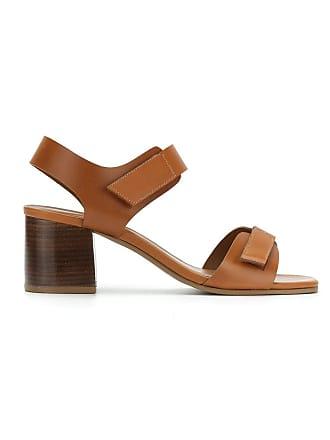 Chofakian Heel Block Studio Sandals Marron HZYqZdxa
