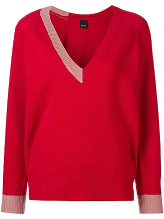 Pinko Sweater Colour neck Block Rouge V 44R0Tq