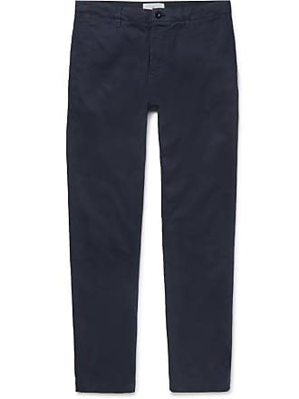 Mr Chinos Garment Navy P twill dyed Cotton rx4w6BrX
