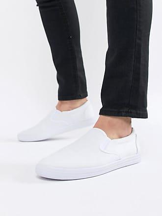 Crema Zip Casual Asos Senza Di Con Bianco DesignScarpe Lacci Tela Bianche 34Rc5jqALS