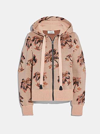 Palmen print Coach hoodie Jacquard Mit sdQBhrCtxo