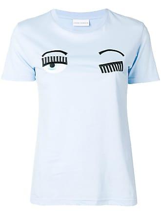 shirt T Eye Blinking Ferragni Bleu Chiara w0qBW