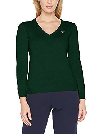 Suéter Green Sweater Verde 10 Mujer Fabricante Del Small Gant talla tartan neck Superfine Lambswool Para V wx8qUXA