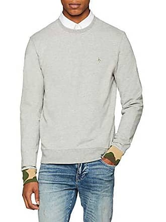 Ls Homme Shirt Crew Neck Penguin Cuff Sweat Gris Camo Original 48qwn51O8