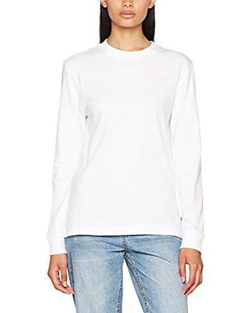 Femme 10 Blanc Medium T Vans Bf shirt Script taille Blossom Ls white Fabricant OOHZF