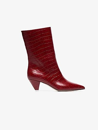 Attico heeled embossed Leather Croc Boots Low Wr8PUBWqn