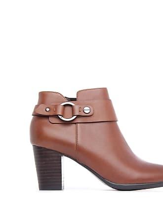 Jb Cuir Calin Femme Chaussures Marron Martin Bottines TTUqZxFB