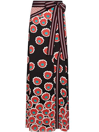 Maxirock Diane Damen Von Blossom schwarz Kimono Fürstenberg ggwTpxfq
