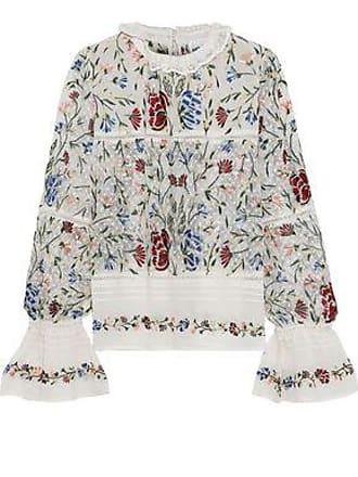 Batik Blusa bordado Voile Tamaño Fally Desprit Point Marfil algodón Mujer And Antik dXgxqnzId