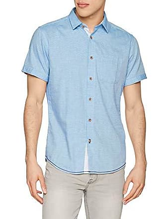 Casual Springfield Homme Chemise Medium 14 gama Calidos Short Structure Bleu Azules rTR4ITqA