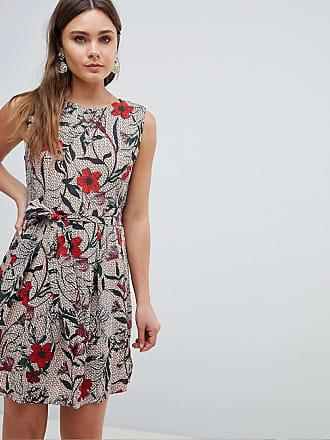 Vestido Floral Antiguo Estampado Yumi Plisado De Con Aqwzv