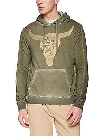 True X Dusty Religion Large 3106 Hoody Uomo Felpa Olive Longhorn Verde ZqrZxnzd6