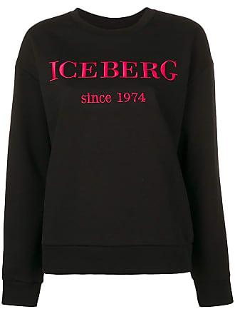 Felpa Iceberg Logo Nero Con Ricamato Di Colore qqUrdWn