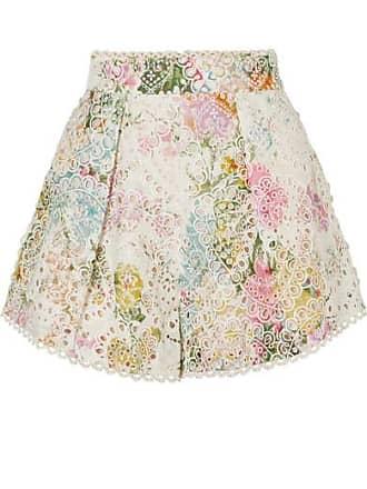 En HeathersBlanc Imprimé Coton Short Zimmermann Fleuri Anglaise De Broderie à 3Lq5ARc4j