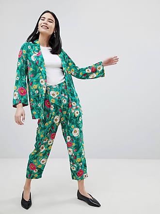 Monki Floral De Con Conjunto Estampado Pantalones 6qfHw6T