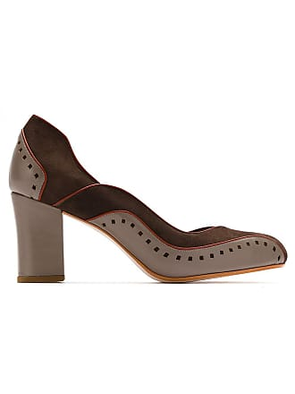 Pumps Sarah Chofakian Panelled Marron Leather wBUtqYrB