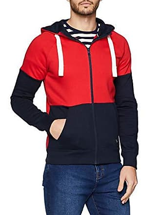 Tailor Red Sweatjacke large Hombre Kaputze Para Sudadera mighty Rojo Mit X Tom Denim 15279 d6nxWvdp