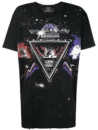 Noir Imprimé T Shirt Graphique À Balmain vX7wqxA4tt