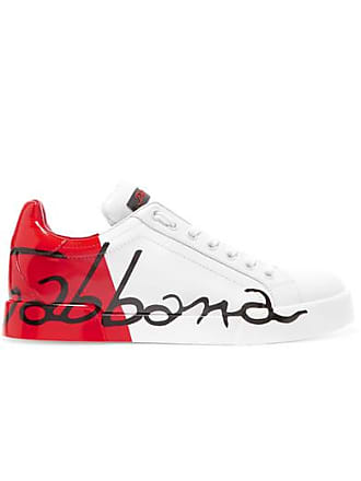 Baskets Dolce Mat Verni Cuir En Et Gabbana Logo amp; À Rouge ppxRqrEU