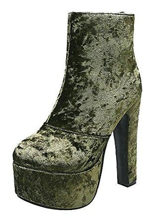 Suede Stiefel Shoes 36 Grün High Heels Mee Damen Plateau PS0nWxR