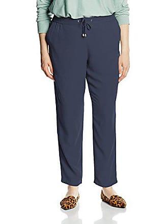 Mujer smoke 40 Samoon 42 Para Azul Drawstring Pantalones Fabricante Del talla Blue qtqxwSgpX