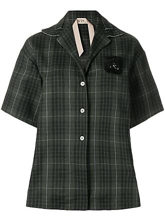 Camisa cuadros a ° gran de tamaño 21 verde N qE7OnPBq