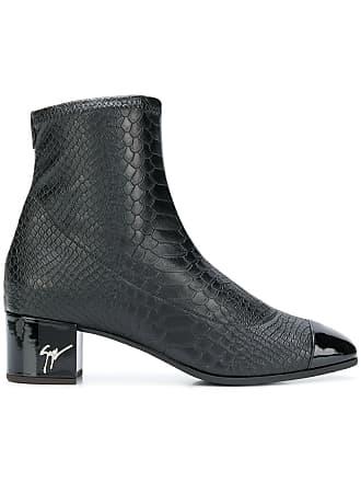 Snake Embossed Zanotti Giuseppe Boots Ankle Noir BqwcUP5