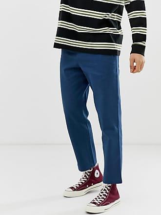 En Pantalon Hawtin Farah Bleu Rustique Toile Court Bq4fcHgfwn