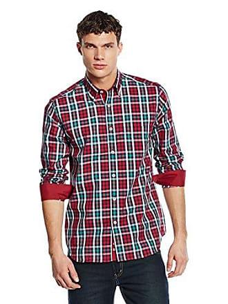 Hombre 39 Cm Camisa 15 Milano 5 Rojo 5xRIawn