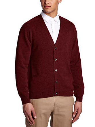Red Rouge V Alan Col Longues Paine Manches Pull bordeaux Homme w8HAqR