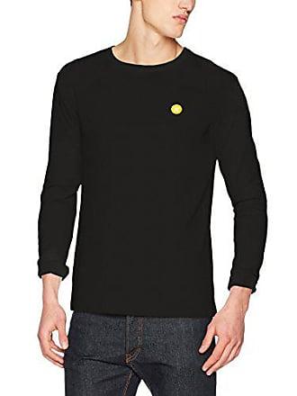 Sleeve large Para Mel X Manga Camisa black Negro Hombre Wood Larga Long wZEByqP