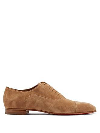 Greggo Louboutin Brown Christian Suede ShoesMens Derby XkZuOPi