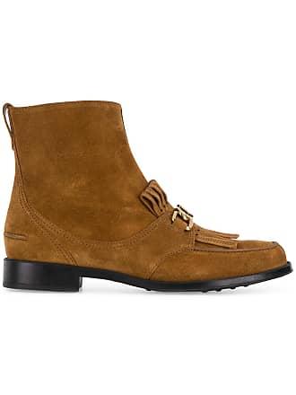 Tod's Marron Fringed Fringed Boots Ankle Ankle Tod's BxqzYw4yE