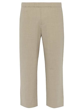 TrousersMens Cropped Relaxed Blend Commas Beige Wool PwknO0