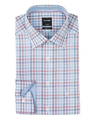 Luxor Olymp Fit Rot Blau Modern Hemd gwpn6S