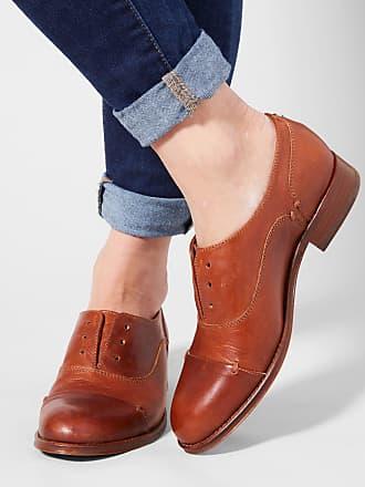 Two24 Cognac Austen Womens LeatherB Oxford Shoe In Medium 42 5By WidthSize deQrCBoWx
