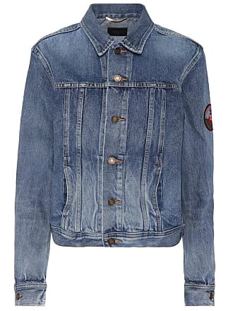 Jacket Saint Denim Laurent With Appliqué qqEAgdrwnx