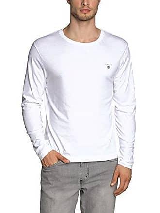 Manga Ls white shirt T Para Medium Hombre Gant The Larga 110 Blanco Camisa Original xq6pxZwY