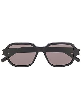Saint Lunettes Laurent Géométrique Soleil Monture Eyewear De à Noir aqAdraUw