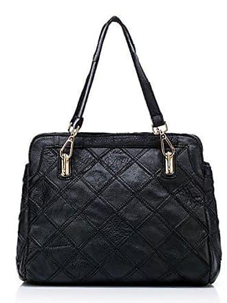 Mode Nähte Ledertasche Handtaschen Chengxiaoxuan Elegante Umhängetasche onesize Farbe Damen Tasche Hit Ling Frau black Handtasche EY9W2HDI