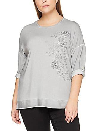 T Via 34 Shirt Due Rundhals Appia Grigio Donna Motiv Arm qgOg1