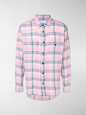 Saint Oversize Shirt Saint Checked Oversize Laurent Laurent Shirt Checked rOqHFrt