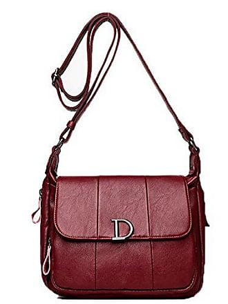 weinrot Damen Einkaufen Taschen Umhängetaschen Beiläufig Agoolar rombl180990 Reißverschlüsse Pu wq6dxqEF8
