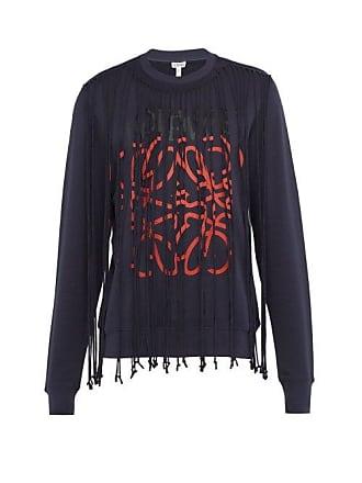 Sweat shirt En Anagram Franges à Coton Loewe 8Aq1wCp