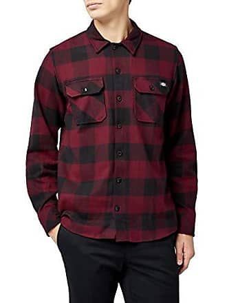 Hombre xlrge Rojo tamaño Dickies large Para Casual Del Fabricante maroon Sacramento Mr X Camisa RCOqwnxBf