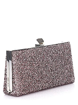 Glitzergewebe Metallic Clutch Tearose Celeste Choo optik s Jimmy London wZ0AqBExY