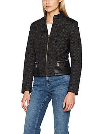 Finta Pelle Giubbotto Solino Gaudì Negro Abrigo black Para In Collo Mujer qZ4wngp1
